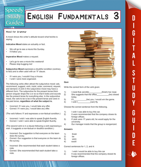 English Fundamentals 3 (Speedy Study Guides) - cover