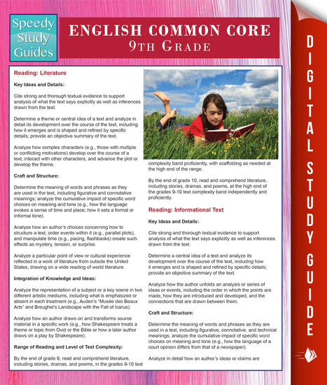 English Common Core 9th Grade (Speedy Study Guides) - cover