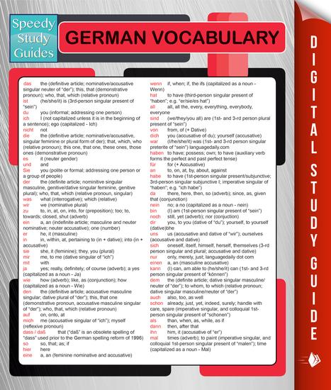 German Vocabulary (Speedy Language Study Guides) - cover