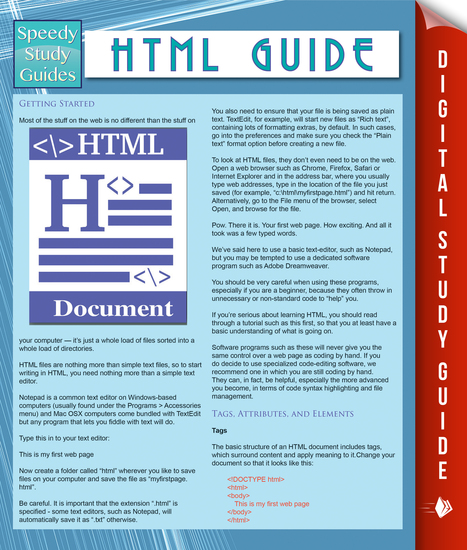 HTML Guide (Speedy Study Guides) - cover