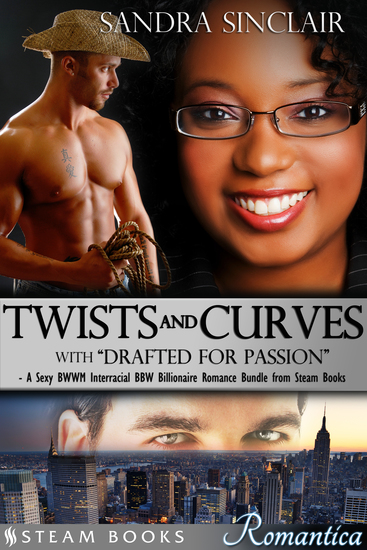 "Twists and Curves (with ""Drafted For Passion"") - A Sexy BWWM Interracial BBW Billionaire Romance Bundle from Steam Books - cover"