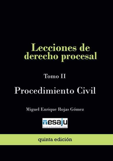 Lecciones de derecho procesal Tomo II Procedimiento Civil - cover