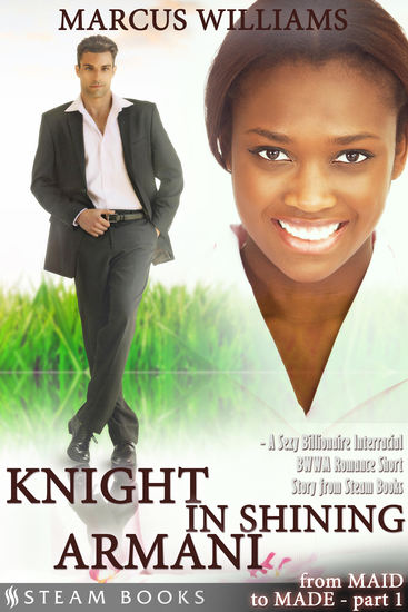 Knight in Shining Armani - A Sexy Billionaire Interracial BWWM Romance Short Story from Steam Books - cover