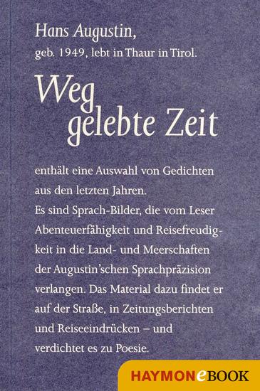 Weggelebte Zeit - Gedichte - cover