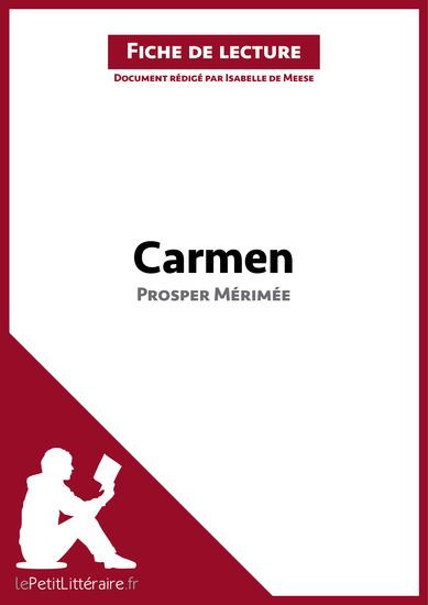 Carmen de Prosper Mérimée (Fiche de lecture) - Résumé complet et analyse détaillée de l'oeuvre - cover