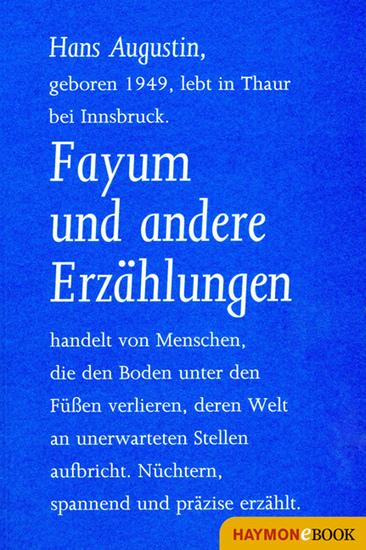 Fayum und andere Erzählungen - cover