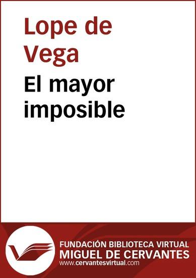 El mayor imposible - cover