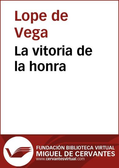 La vitoria de la honra - cover