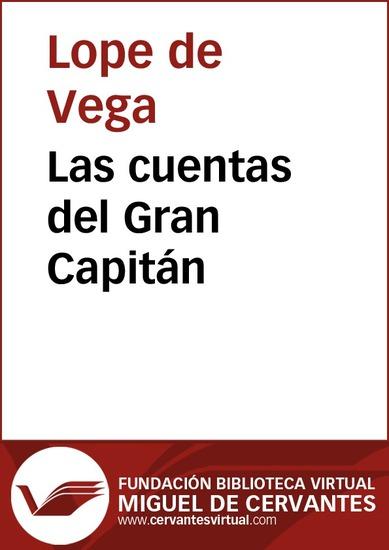 Las cuentas del Gran Capitán - cover