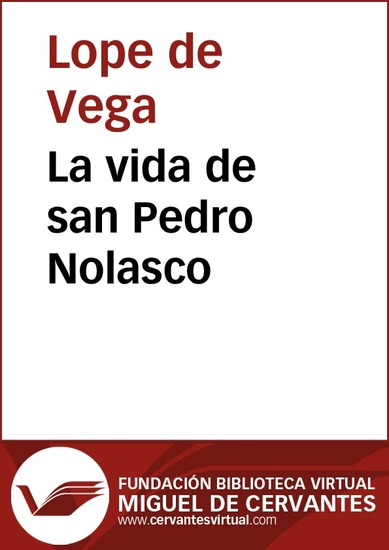 La vida de san Pedro Nolasco - cover