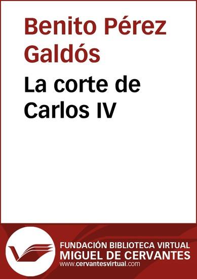 La corte de Carlos IV - cover