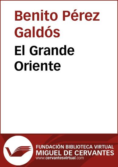 El Grande Oriente - cover