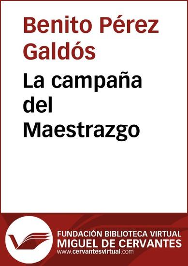 La campaña del Maestrazgo - cover