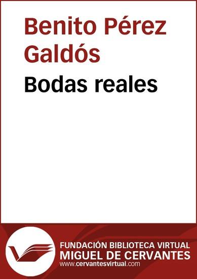 Bodas reales - cover