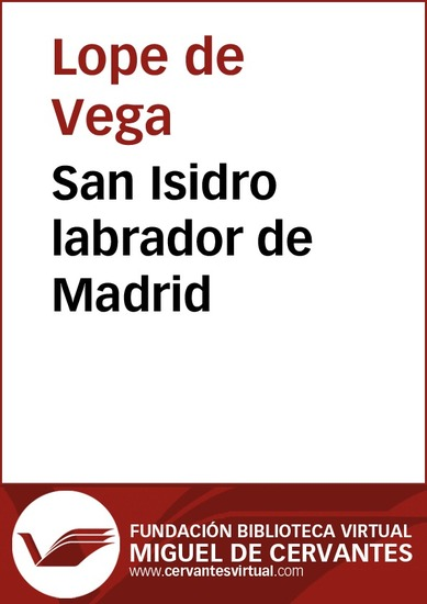 San Isidro labrador de Madrid - cover