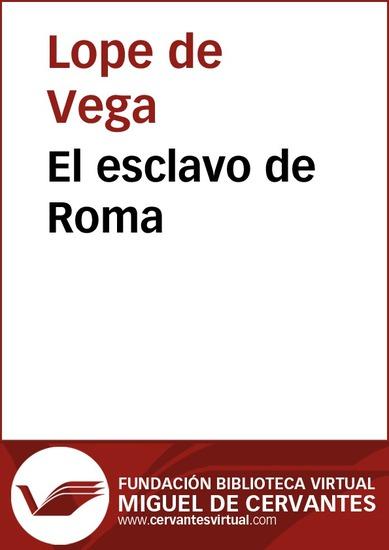 El esclavo de Roma - cover