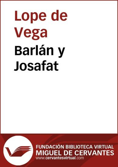 Barlán y Josafat - cover