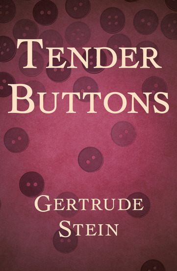 Tender Buttons - cover