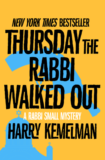 Thursday the Rabbi Walked Out - cover
