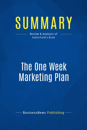 marketing plan for book publisher A marketing plan for every book no, you go to a publisher to use their marketing efforts in combination with your efforts to sell more books.