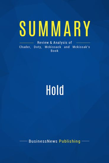 Summary Hold Steve Chader Jennice Doty Jim Mckissack And Linda