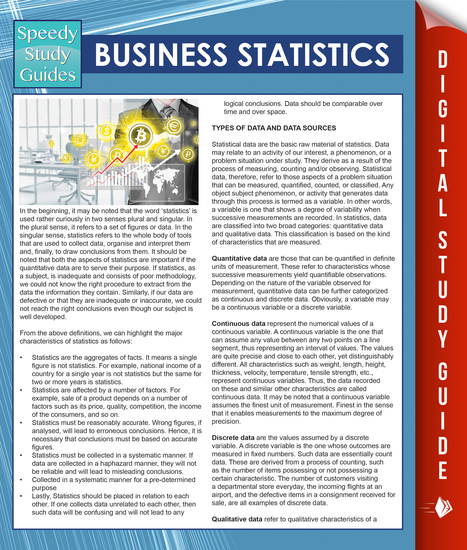 Business Statistics (Speedy Study Guides) - cover