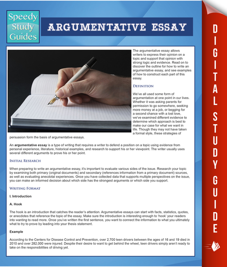Argumentative Essay (Speedy Study Guides) - cover