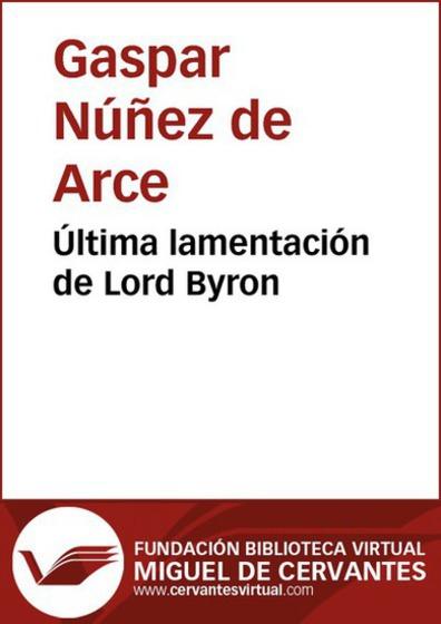Última lamentación de Lord Byron - cover