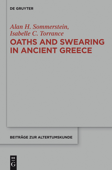 Oaths and Swearing in Ancient Greece - cover