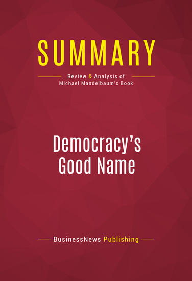 summary cultural democracy
