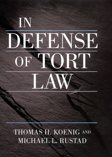 In Defense of Tort Law - cover