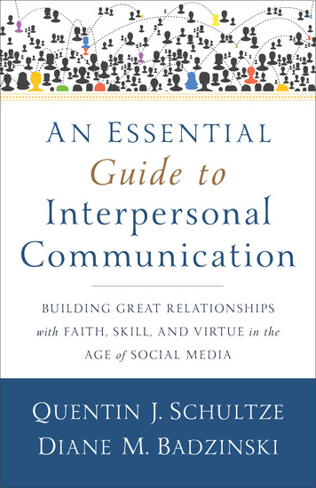 communication interpersonal relationship and social care