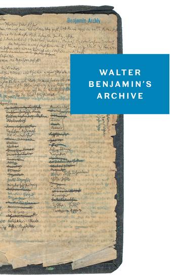 Walter Benjamin's Archive - cover