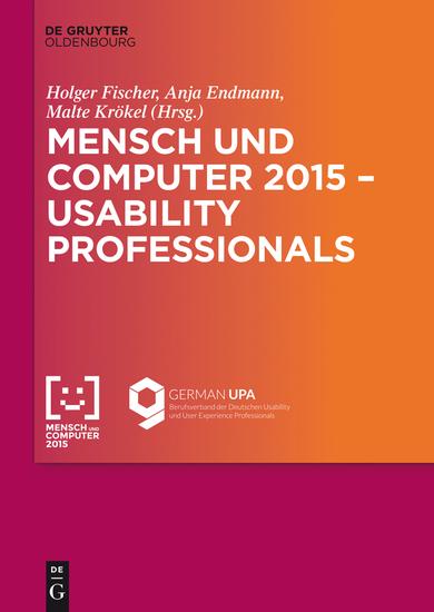 Mensch und Computer 2015 – Usability Professionals - Workshop - cover