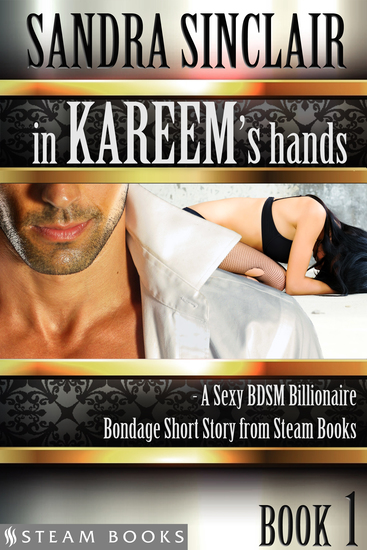 In Kareem's Hands - A Sexy BDSM Billionaire Bondage Short Story from Steam Books - cover