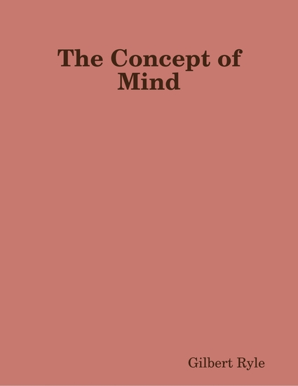 The Concept of Mind - cover