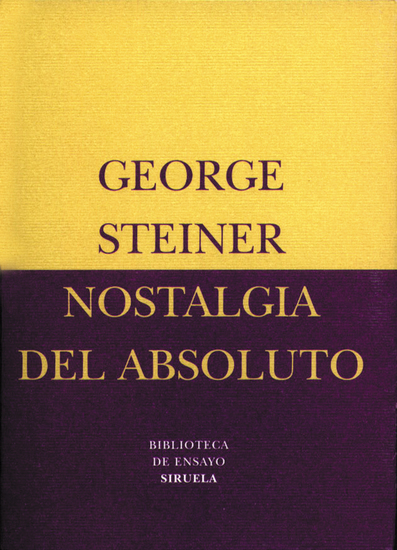 Nostalgia del absoluto - cover