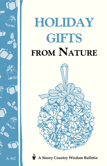 Holiday Gifts from Nature - Storey's Country Wisdom Bulletin A-162 - cover