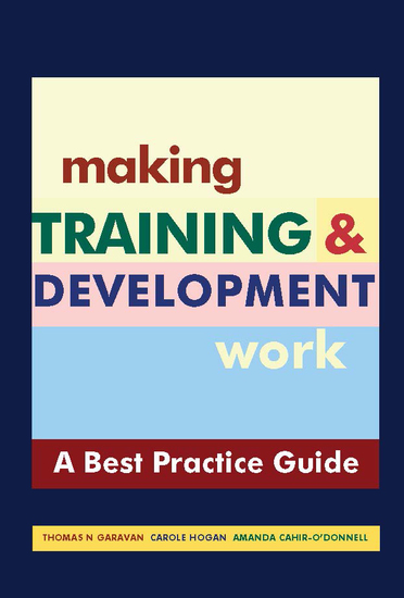 "Making Training & Development Work - A ""Best Practice"" Guide - cover"