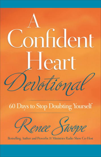 A Confident Heart Devotional - 60 Days to Stop Doubting Yourself - cover