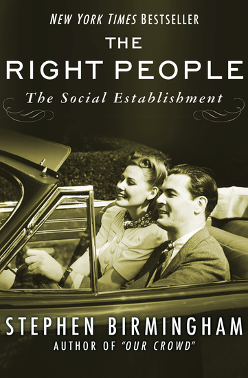 The Right People - The Social Establishment in America - cover