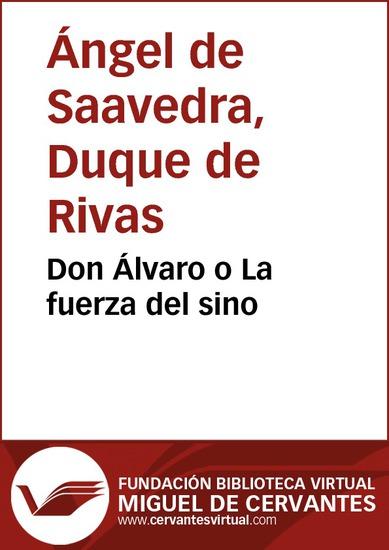 Don Álvaro o La fuerza del sino - cover