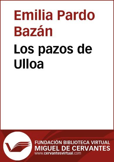 Los pazos de Ulloa - cover