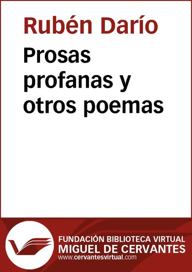 Prosas profanas y otros poemas - cover