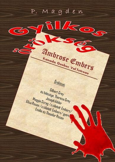 Gyilkos örökség - cover