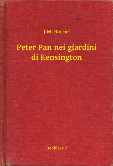 Peter Pan nei giardini di Kensington - cover