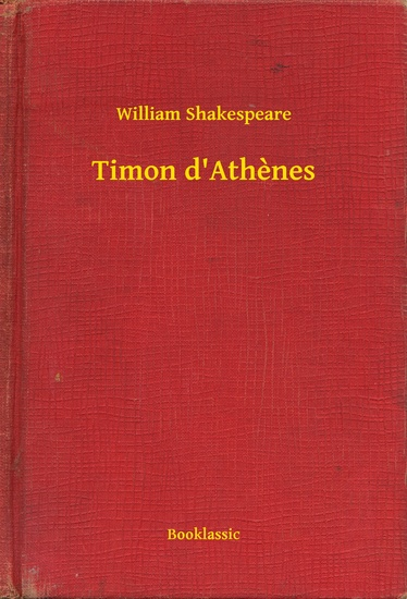 Timon d'Athenes - cover