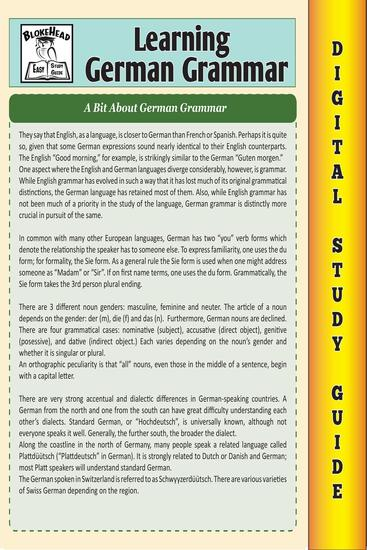 German Grammar (Blokehead Easy Study Guide) - The Blokehead Success Series - cover