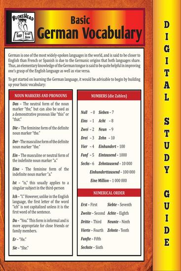 German Vocabulary (Blokehead Easy Study Guide) - The Blokehead Success Series - cover