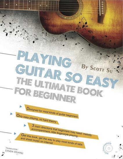 Playing Guitar So Easy: The Ultimate Book For Beginner - cover